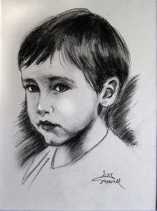 Portrait of a Young Boy - Charcoal Portrait